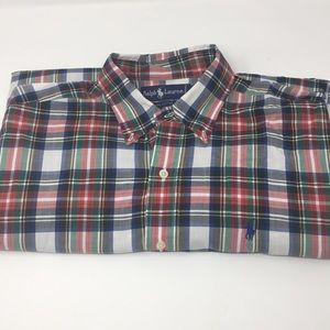 RALPH LAUREN Polo Button Down Plaid Medium